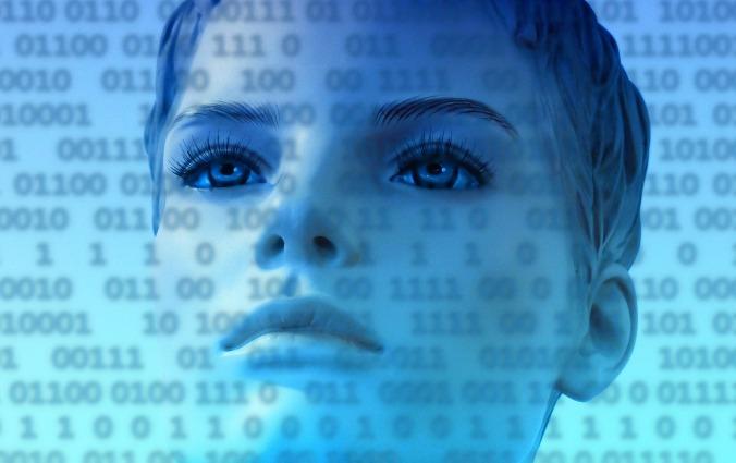 Woman Internet Network One At Stylish Binary